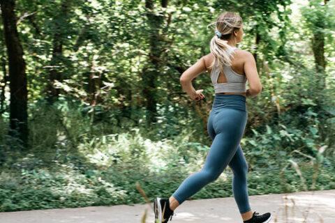 Athlete jogging.